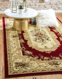Classic Aubusson Red Rug   Silver Spring, 20906