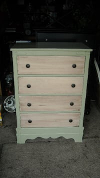 Vintage Dresser 4 Working Drawers 42 1/2 Tall x 30 x 18 Deep Solid Wood $95.00 No Holds Modesto Modesto