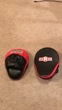 black-and-red Ring Side focus mitts