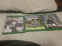 three Xbox One game cases Peterborough, K9J 6A8