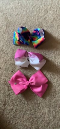 pink and purple bow accent headband Chester, 23831