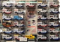 1990 Major League Baseball Team Collectible 26 Matchbox Truck Set w/Mirrored Plexiglass Case Brandon, 39047