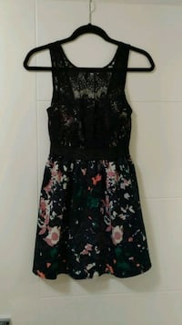 black and green floral sleeveless dress Calgary, T2E 2R9