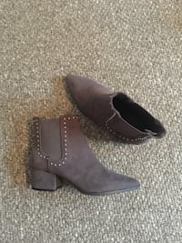 pair of brown leather chunky heeled booties Lincoln, LN2 5EF