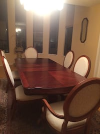 brown wooden dining table set VANCOUVER