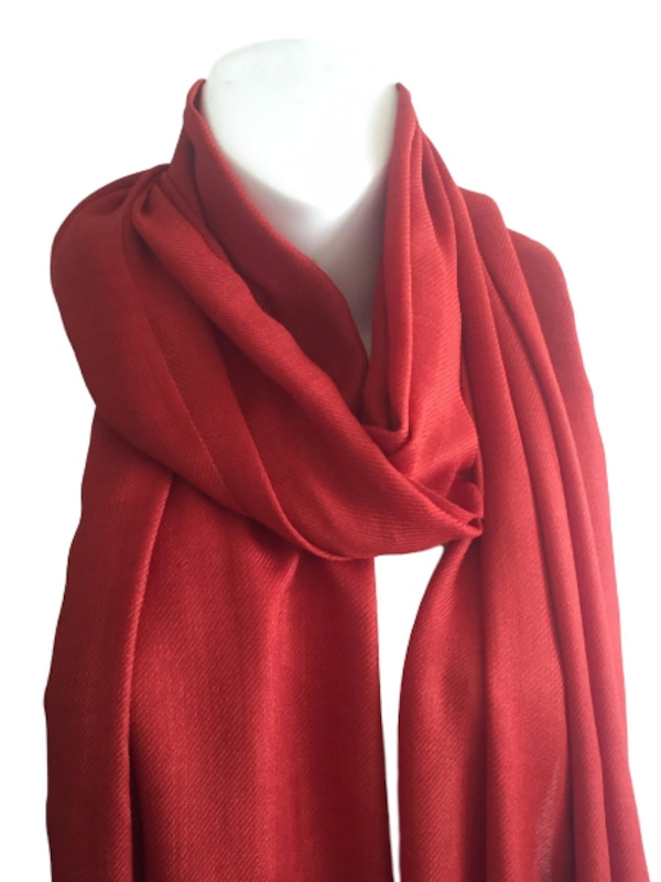 New Indian Stole Scarf Neck Wrap Viscose Shawl with Cosmetic Pouch, Coral 6f4db45e-f68f-4afb-9237-07b12c1a094a