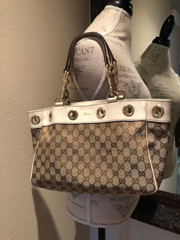 8eb5b6acbe3921 Used AUTHENTIC GUCCI CANVAS HANDBAG for sale in Irvine - letgo