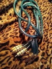Blue audio cable and plugs Surrey, V3W 1P6