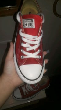 unpaired red and white Converse All-Star low Allentown, 18102
