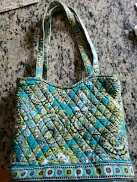 blue, green, and brown floral tote bag Cicero, 13039