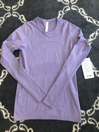 Brand new purple lululemon swiftly tech LS size 8