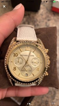 Michael kors strap Watch Gold strap white