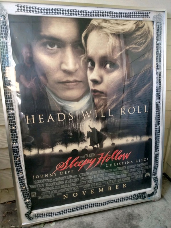 Genuine Sleepy Hollow Theater Poster & Casing