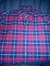 red and blue Polo by Ralph Lauren button-up top