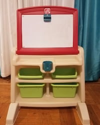 Red, blue, and green plastic Kids art  Desk and toy organizer New York, 11220