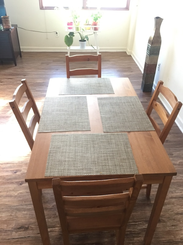Used Dining Table With 4 Chairs Ikea Jokkmokk For In Bayonne Letgo