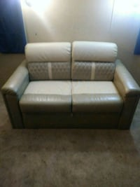 brown leather 2-seat sofa Hamilton, 45011
