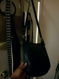 Black leather Coach over the shoulder bag  Laurel, 20707