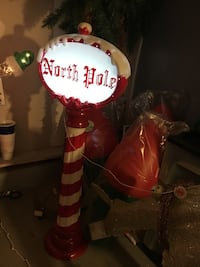 red and white North Pole floor lamp Chesapeake, 23321