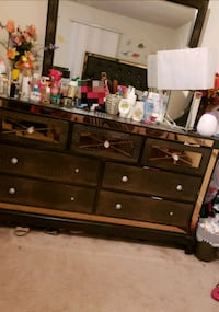 brown wooden dresser with mirror Manassas