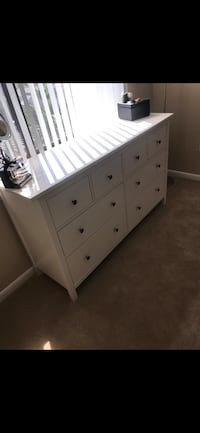 IKEA Hemnes 8-drawer dresser with glass top. White Alexandria, 22304