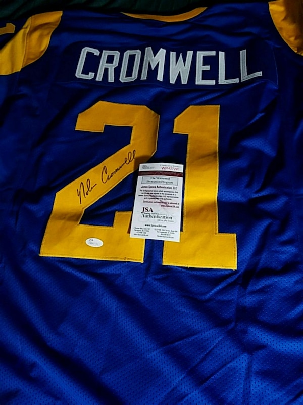 new arrival be18b 34259 Nolan Cromwell signed and certified jersey