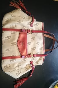 Dooney & Bourke Shoulder Bag - tan & red