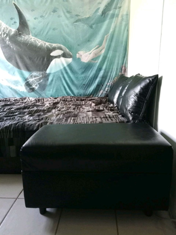Pleasing Black Faux Leather Ottoman Bralicious Painted Fabric Chair Ideas Braliciousco