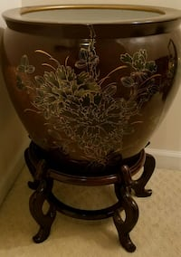 """Authentic oriental 20"""" ceramic pot with stand Ashburn, 20147"""