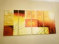 'Sunset' 4 piece hand paintef oil on canvas Charleston, 29492