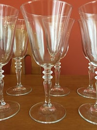 four clear glass footed wine glasses Rockville, 20850
