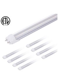 T8 LED Shop Light Tube, 4ft, 20W (36W Equivalent), 5000K (Daylight), Clear Cover, G13 Lighting Fixtures, ETl-Listed 奥文斯米尔, 21117