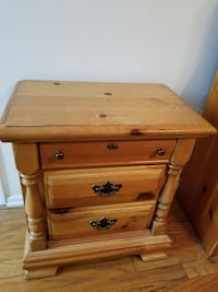 Pine Night Table / End Table - 26W x 16D x 29H Chicago