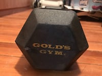 Gold gym rubber hex