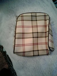 white, black, and red plaid leather bag Suitland-Silver Hill, 20746