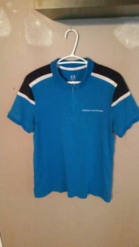 blue and black armani shirt Oshawa