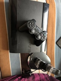 Black sony ps3 super slim with two controllers Hemet, 92545