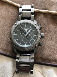 Round silauthentic Burberry chronograph watch with link bracelet Downey, 90241