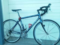 blue and black Trek road bike