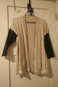 Zara Knit cardigan with leather sleeves