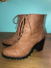 Brown heeled boots Sterling, 20165
