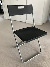 black and stainless steel folding chair SYDNEY