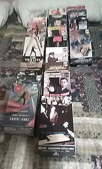 22 - 007 James Bond VHS tapes.