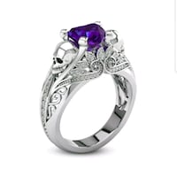 silver-colored ring with purple gemstone Kingsport, 37665