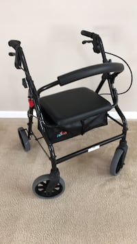 "Nova rolling walker 20"" Black - gently used for indoor only - pick up at Williamsburg Williamsburg, 23188"