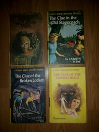 4 Children's Books Nancy Drew Mystery Vintage Mississauga, L4X 1S2