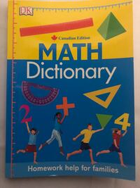 Math Dictionary Canadian Edition Kitchener, N2M