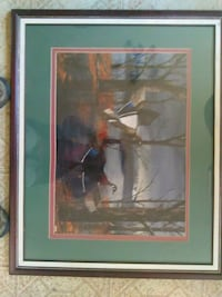 mallard duck painting with wooden framed