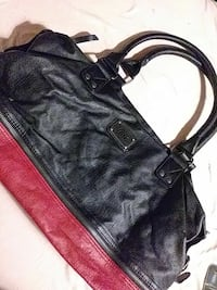 Vans red and black purse
