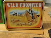 Collectible tin lunch box wild frontier Hurricane, 84737